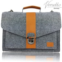 Businesstasche handgemacht Umhängetasche Dokumententasche Aktentasche Handtasche Tasche Herren Damen mit Leder-Applikationen