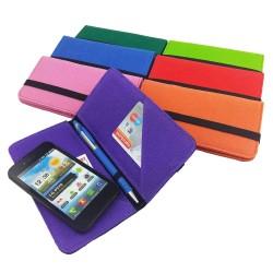 """5.2 - 6.4"""" Bookstyle wallet case Tasche Hülle für Smartphone passend u.a. zu Samsung S8, S8 Plus, iPhone 5, 6, 7, 8, X"""