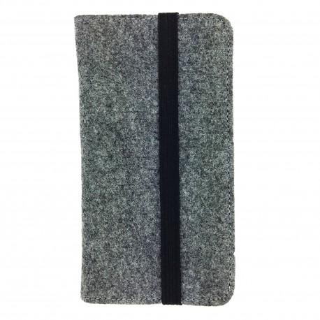 Bookstyle wallet case Hülle für Smartphone aus Filz