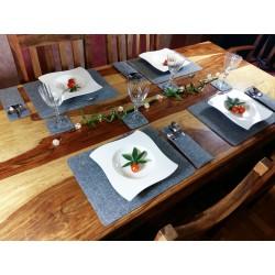 Platzset Tischset Tischdekoration Platzmatten Tischmatten aus Filz 2er oder 4er Set
