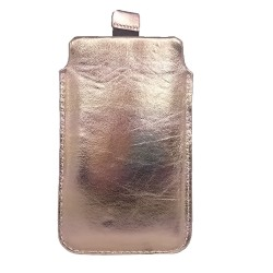 Echtleder Pull up Leder Tasche Hülle  Schutzhülle für iPhone  7, 8, 8 Plus, X, Samsung S7, S8, S8+, Goldig