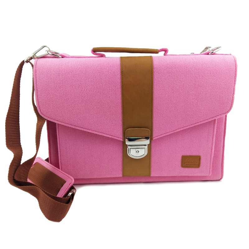 Original 2087 Brand Design Women Document Bag Felt Large Office Laptop Bags Cute Cat Female Shoulder Bag ...