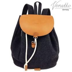 Venetto designer Backpack made of leather and felt unisex handmade