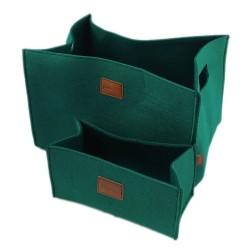 2-er Set Box Filzbox Aufbewahrungskiste Aufbewahrungsbox Kiste für Allelei