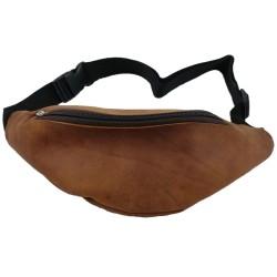 Leather bag belt bag hip bag hiking bag travel bag for smartphone leather