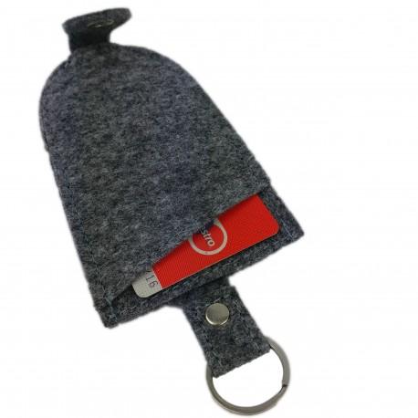 Schlüsselanhänger Anhänger für Schlüssel, Band aus Filz, Filzband, Schlüsselband mit Kartenfach