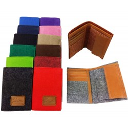 Venetto Bifold Wallet handmade from felt with leather applications unisex