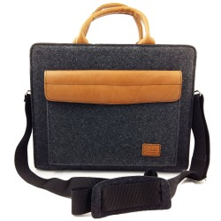 Business bag document bag handbag handmade men women with leather applications