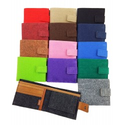 Venetto Wallet handmade from felt with leather applications
