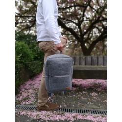 Venetto backpack bag made of felt unisex handmade