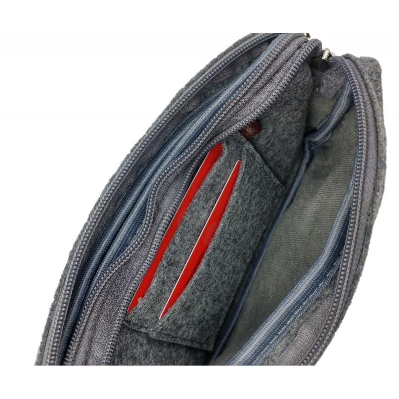 venetto herren brieftasche aus filz handgemacht f r. Black Bedroom Furniture Sets. Home Design Ideas