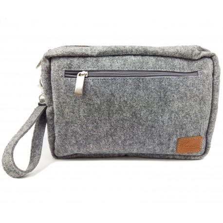 Venetto small Men's Wallet Handbag Bag Felt Handmade Organizer for Documents, Travel, ID