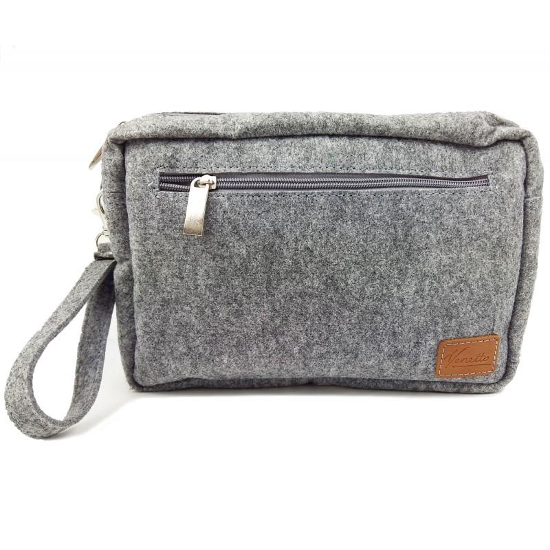 venetto herren brieftasche aus filz handgemacht f r dokumente reise. Black Bedroom Furniture Sets. Home Design Ideas