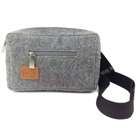 Fanny pack for dogs, dog training, dog treats, dog food made of felt and leather
