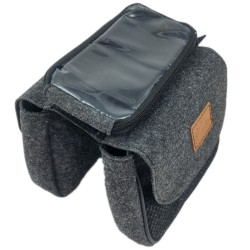 Bicycle bag for frame Bike cover Protective cover for accessories, travel, tour with smartphone holder