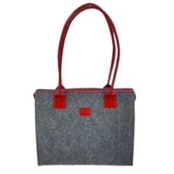 Lederhenkel Double color Shopper Damentasche Handtasche Einkaufstasche Shopping bag für Damen
