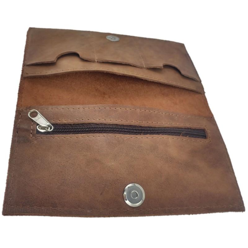 Portemonnaies Geldbörse Geldtasche Wallet Handgemacht Aus Leder