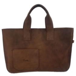 Ledertasche aus Nubuk-Leder Shopper Damentasche Handtasche Einkaufstasche Shopping bag für Damen