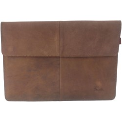 12,9 - 13,3 Zoll Echtleder Hülle Leder-Tasche Schutztasche Sleeve für MacBook / Air / Pro, iPad Pro, Surface, Laptop, Notebook