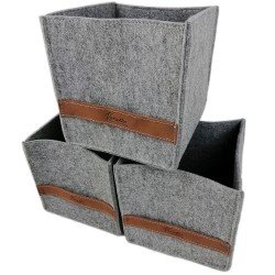 3-er Set Box Filzbox Aufbewahrungskiste Aufbewahrungsbox Kiste für Allelei auch für IKEA Regale