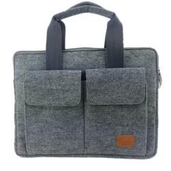 "15,6"" Business bag document bag handbag handmade men women with leather applications"