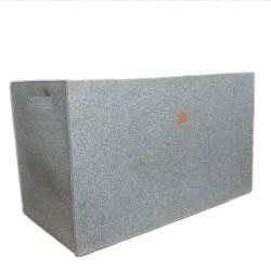 74 x 38 x 45 cm Big Box Große Filzbox Aufbewahrungskiste Aufbewahrungsbox Kiste für Allelei für Keller, Regale