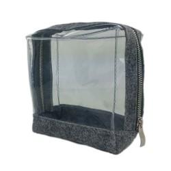 Reisetasche Kulturtasche Kulturbeutel für Hülle Tasche für Make Up Kosmetik transparent