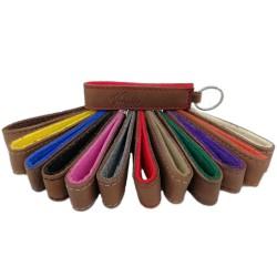 Schlüsselanhänger aus Nubuk, Anhänger für Schlüssel, Band aus Leder, Lederband, Schlüsselband