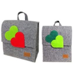 Venetto Kinder Rucksack Tasche aus Filz unisex handgemacht Ranzer Tornister Schulranzen