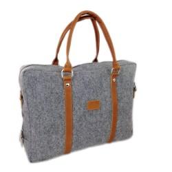 """Edle Handtasche Dokumententasche Aktentasche Handtasche für MacBook 13,3"""" Laptop-Tasche Herren Damen mit Leder-Applikationen"""