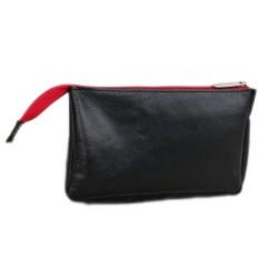 Banktasche Kulturtasche Kulturbeutel Geldtasche Belege Geldmappe Hülle Leder- Tasche für Zubehör ( PC Maus, E-Zigarette)