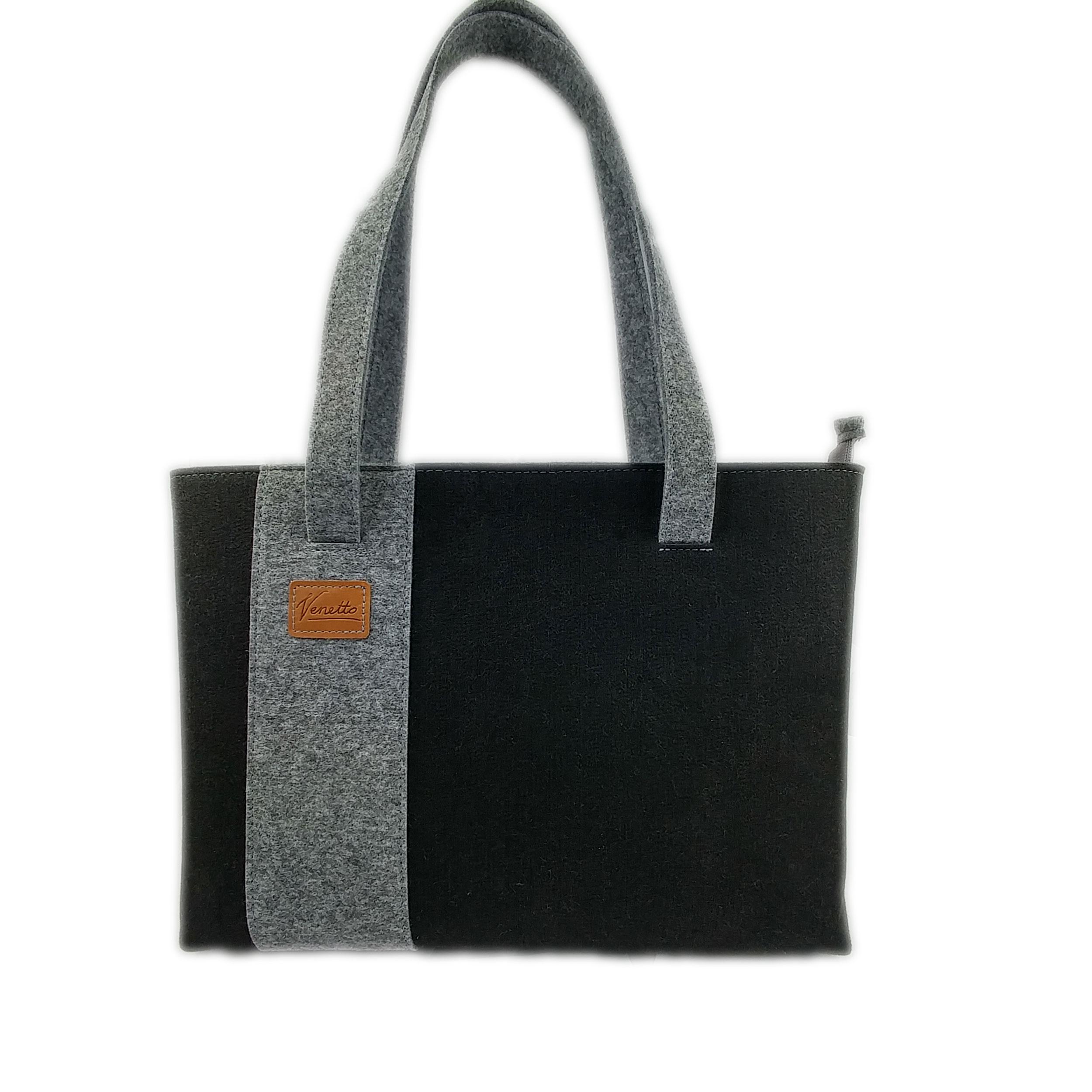 Shopper aus Filz und Leder made in Germany