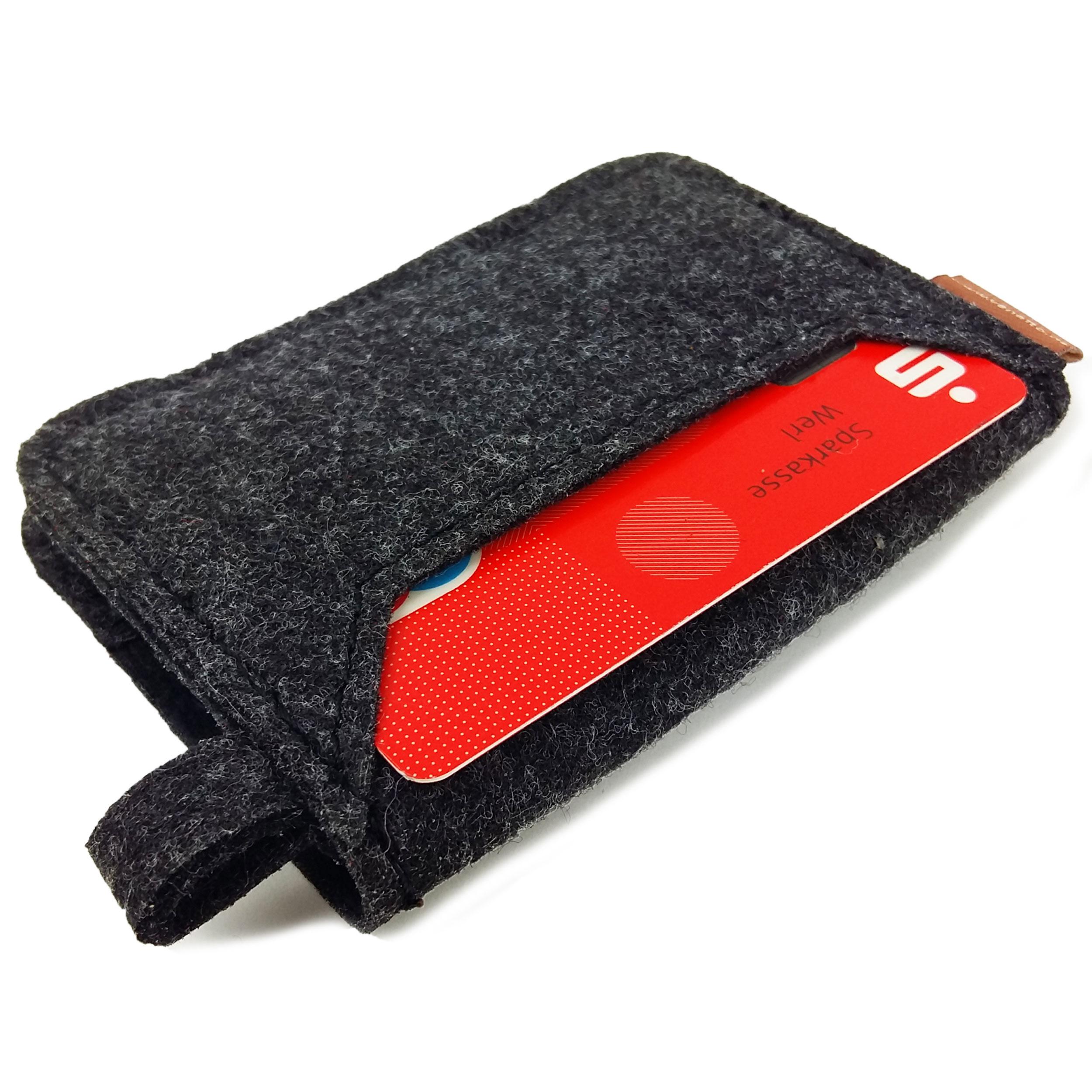 Mini Geldbörse Portemonnaie aus Filz direkt vom Hersteller, grau