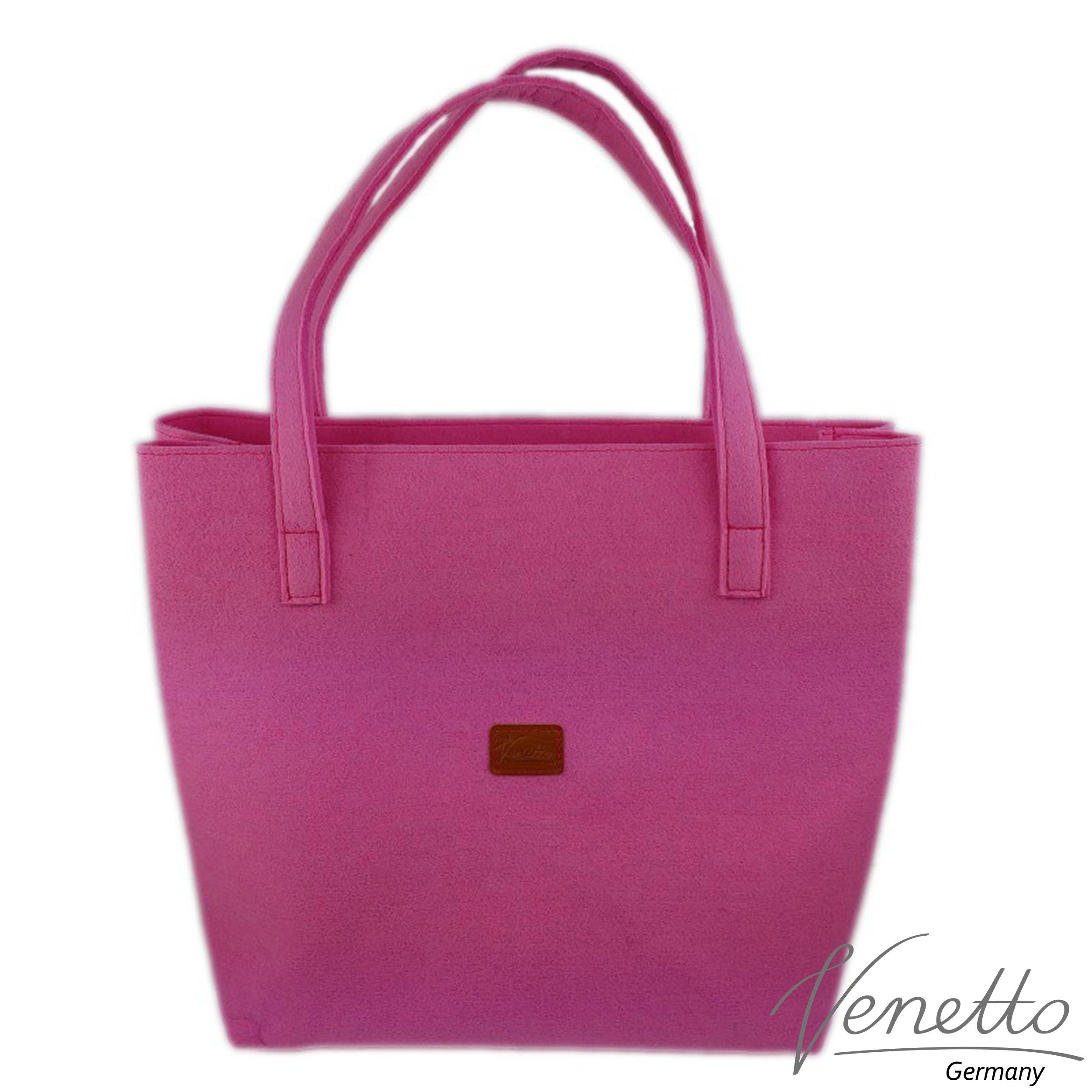 Filztasche Shopper Handtasche pink