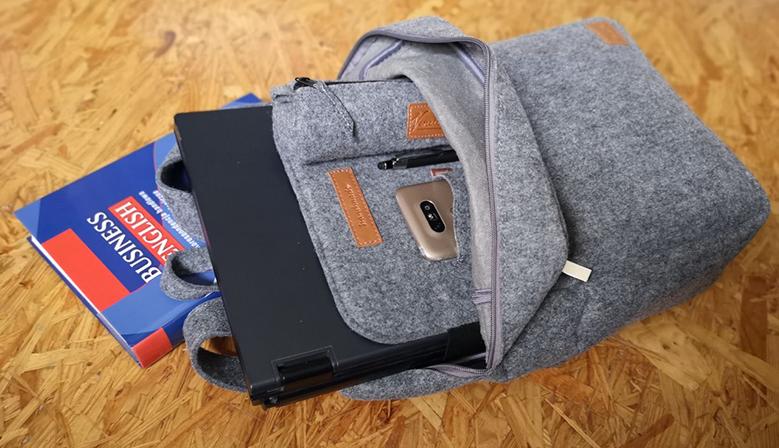 Rucksack aus Filz für MacBook