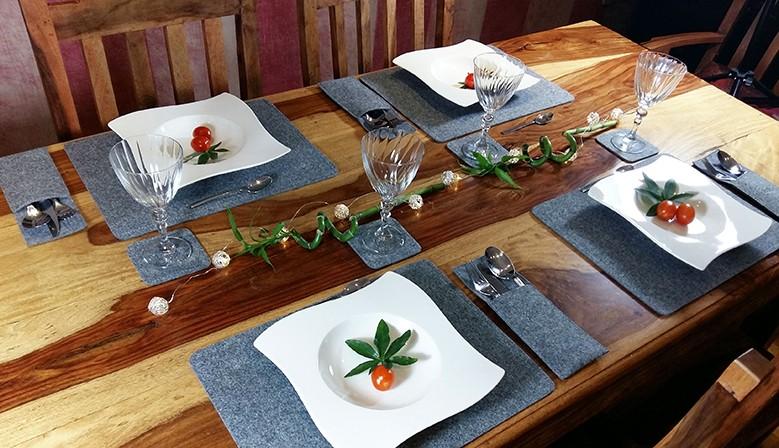Tischmatten aus Filz