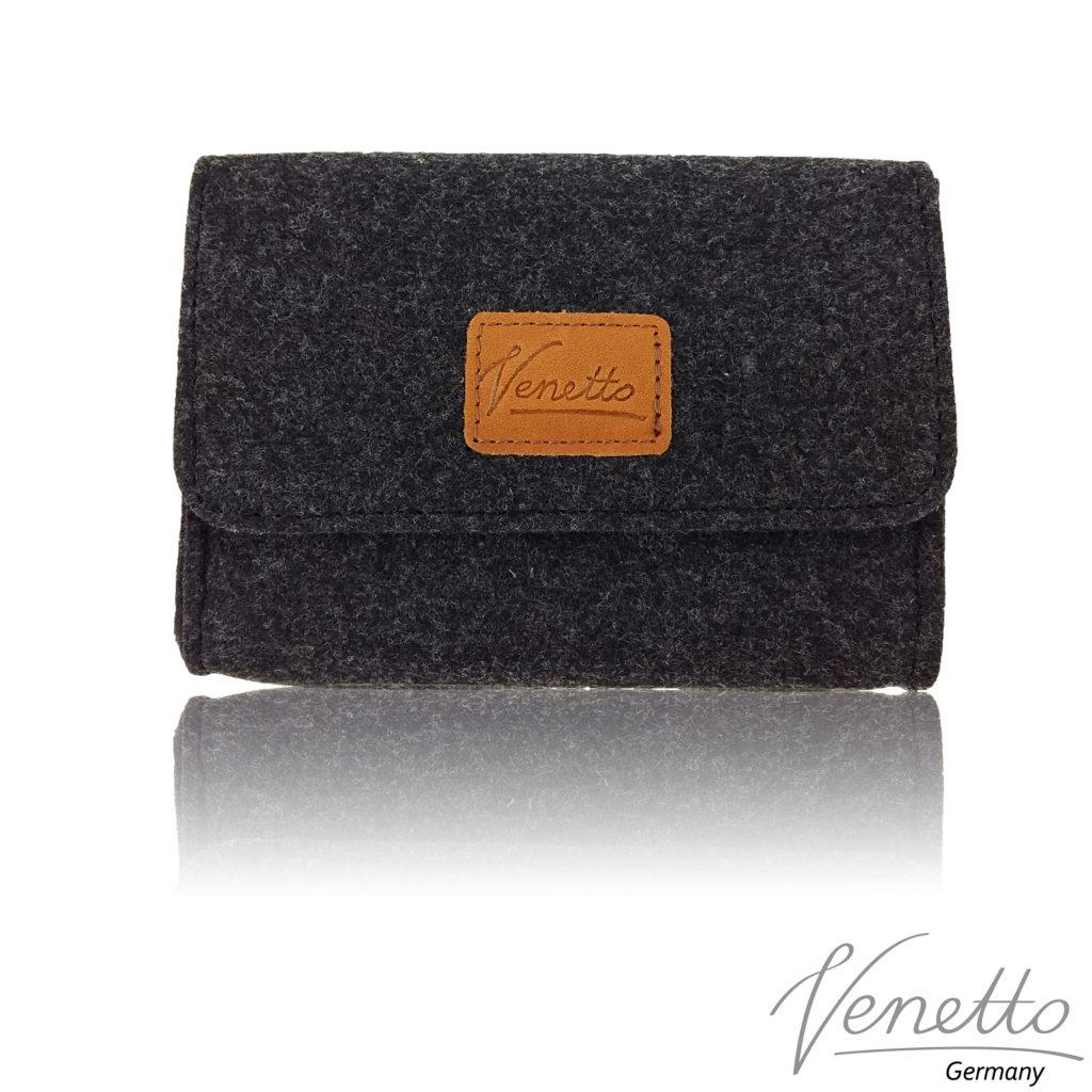 Tasche-Accessories-Meliert-Schwarz-1